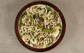 Recipe thumb salata me fasolakia kai kalamarakia