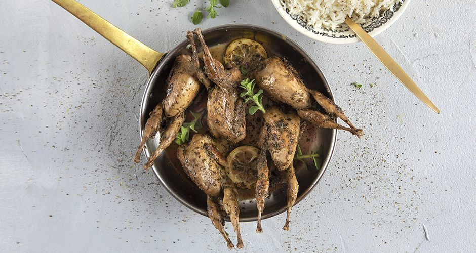 Greek-style quail with oregano