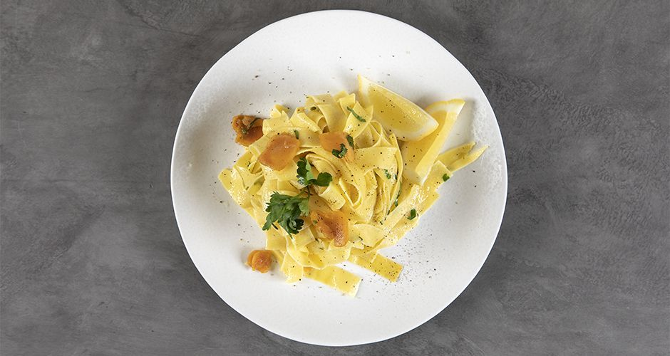 Pappardelle with fish roe