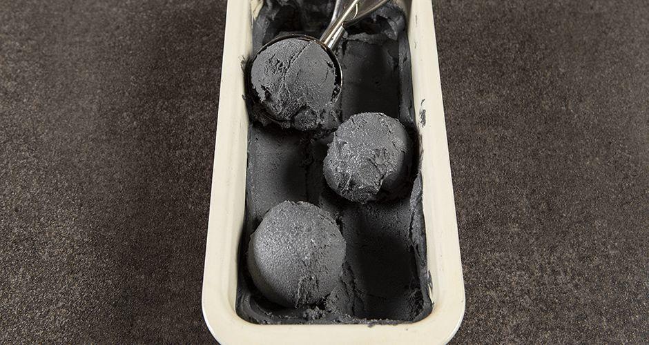 Vegan black coconut ice cream