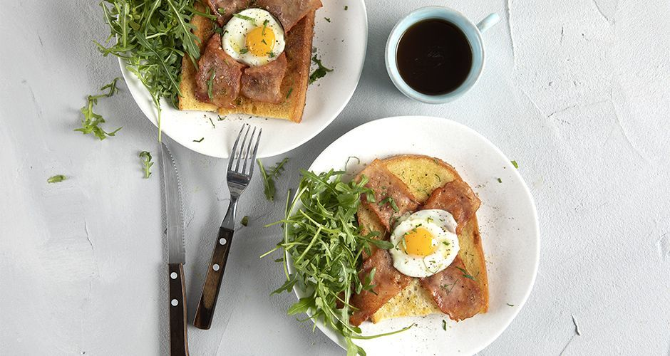 Quail egg breakfast