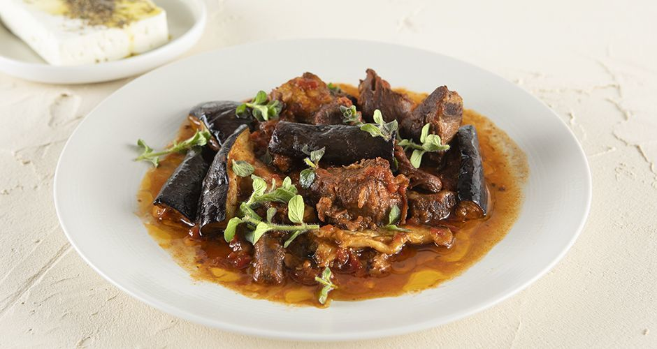 Pressure cooker beef and eggplant stew