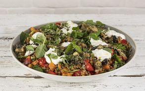 Recipe thumb salata me fakes melitzana kai giaoyrti