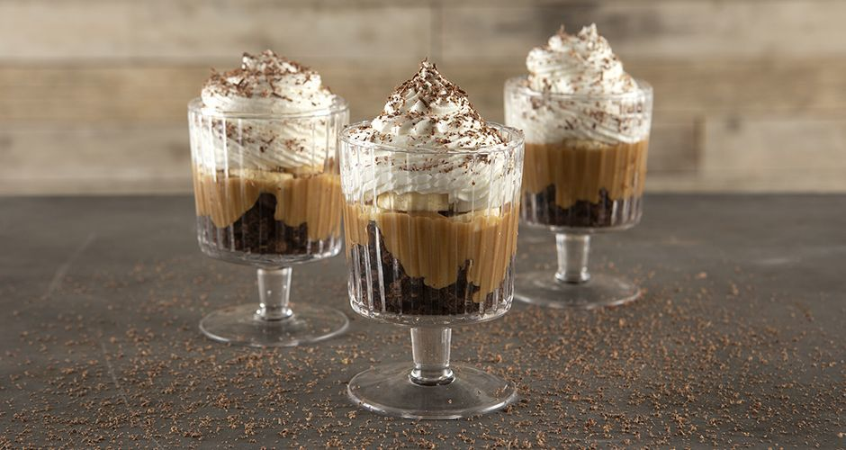 Mini banoffee trifles