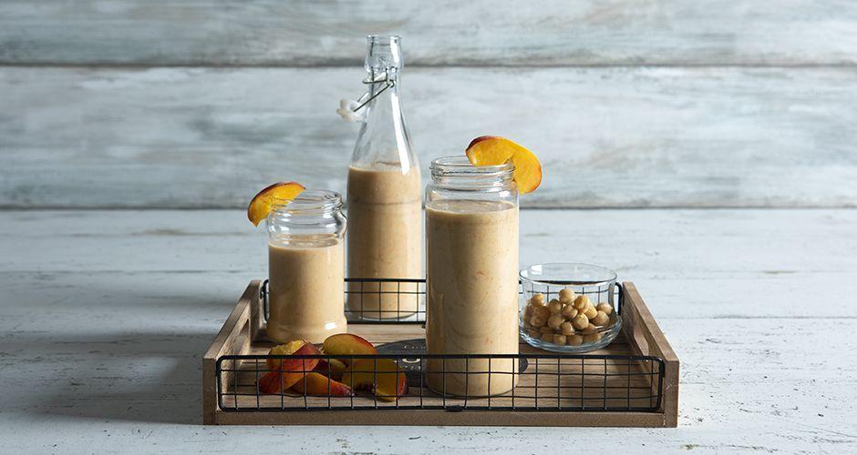 Peach hummus shake