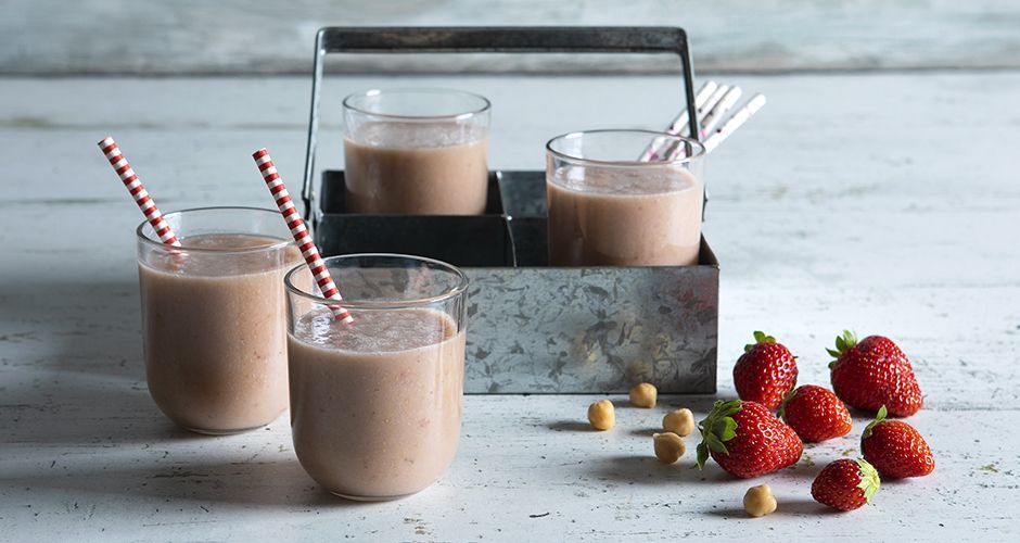 Strawberry hummus shake