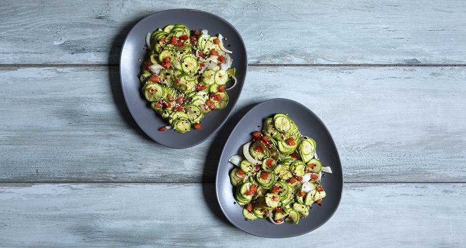 Asian zucchini salad