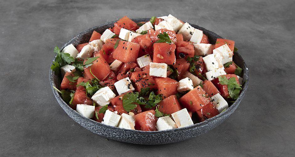 Recipe main salata me karpouzi kai feta