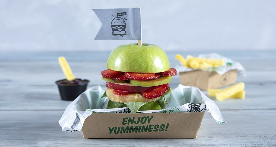 Burger από φρούτα