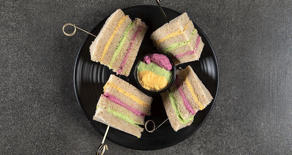Rainbow sandwiches