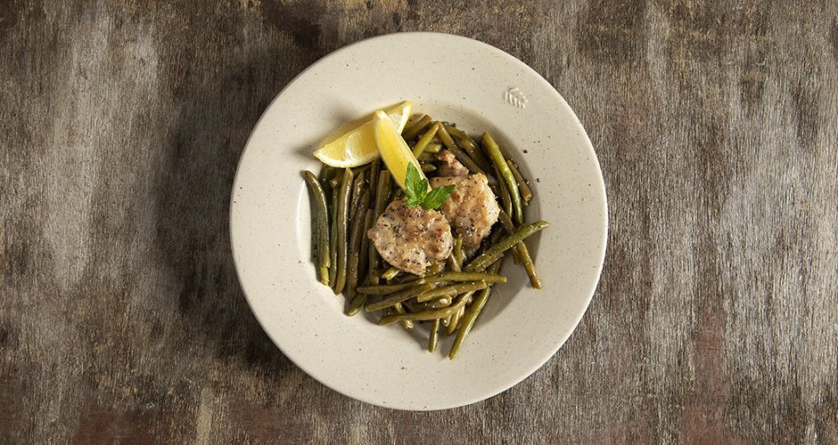 Lemon chicken with green beans