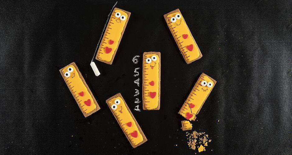 School ruler cookies