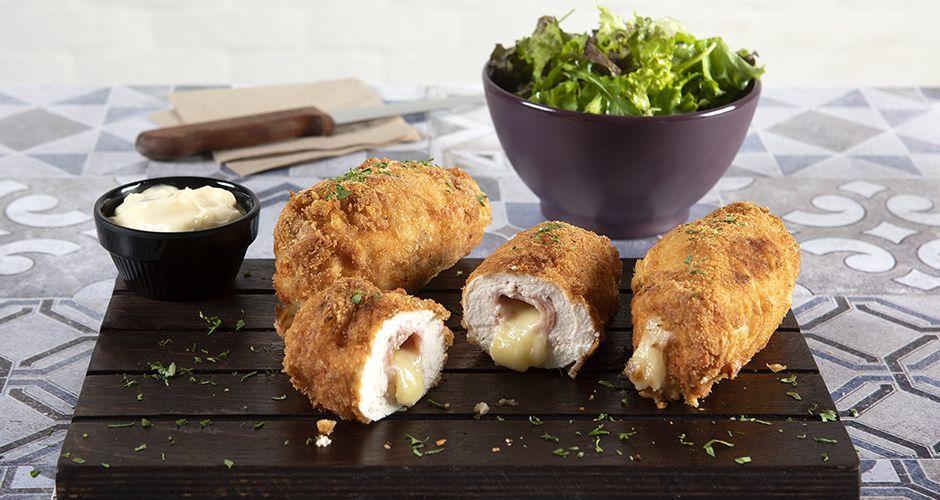 Crispy chicken Cordon Bleu
