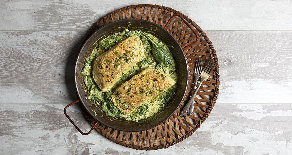Σολομός σε σάλτσα από βούτυρο ghee