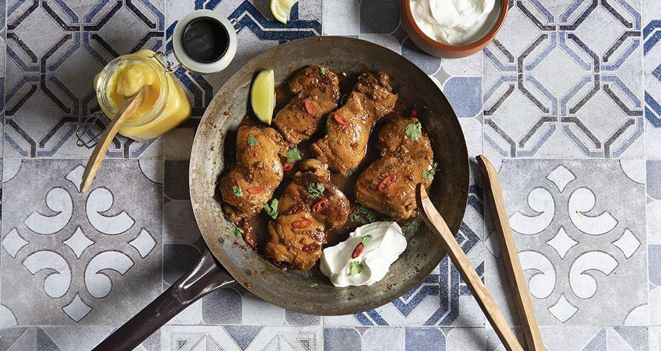 Κοτόπουλο στο τηγάνι με βούτυρο ghee