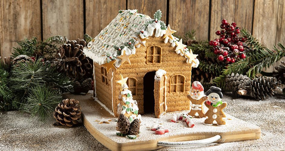 Easy gingerbread house