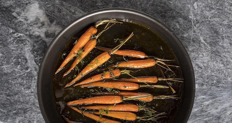 Καρότα με γλάσο μελιού