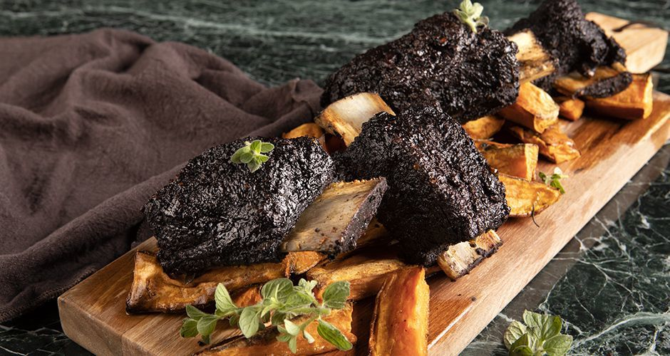 Cocoa rubbed short ribs