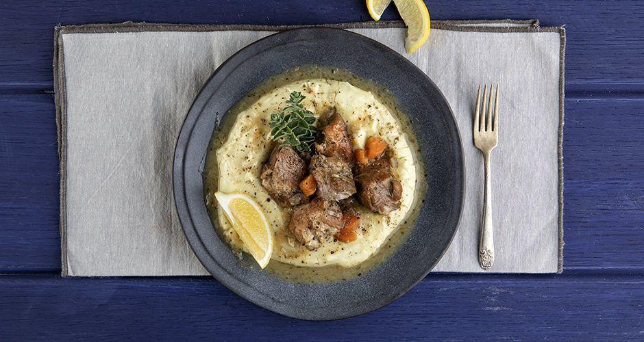 Greek lemon pork stew