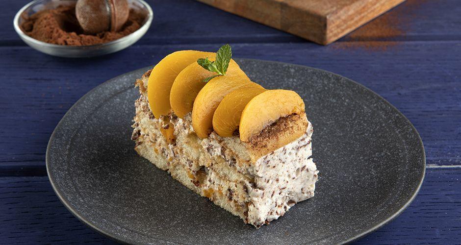 Peach and chocolate icebox cake