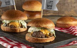 Recipe thumb burger me arnisio mpifteki