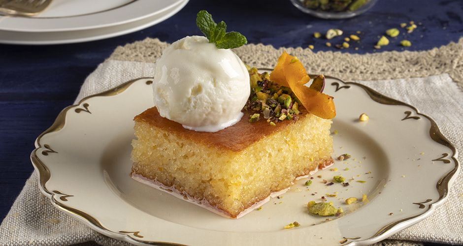 Greek semolina cake – Revani Recipe | Akis Petretzikis