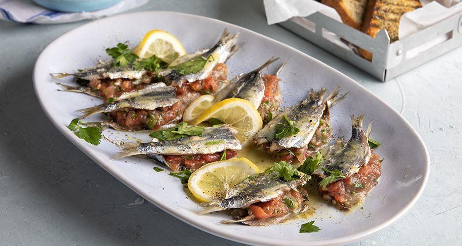 Greek stuffed sardines