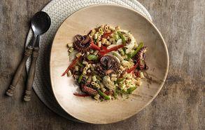 Recipe thumb kria salata me xtapodi kai kofto makaronaki
