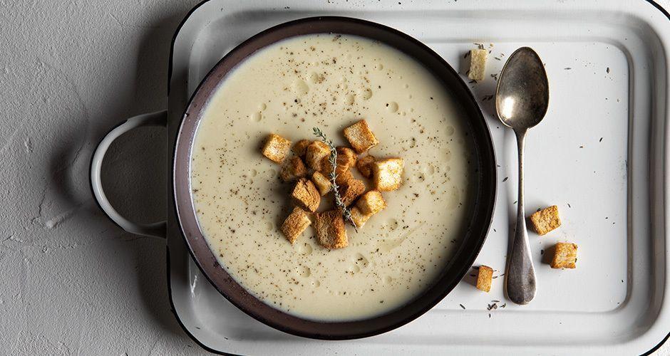 Σούπα με πράσο και πατάτες