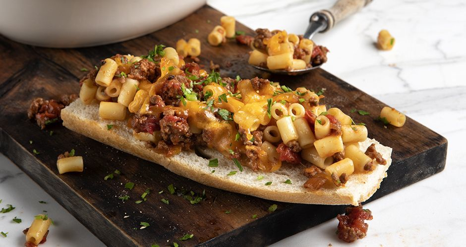 Sloppy joe mac 'n' cheese