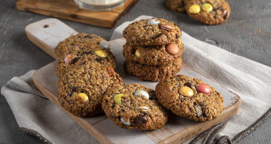 Παιδικά μπισκότα με βρόμη και σοκολάτα
