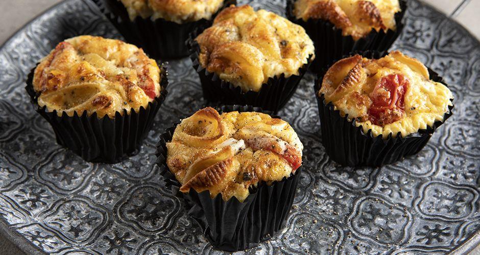 Muffins ζυμαρικών
