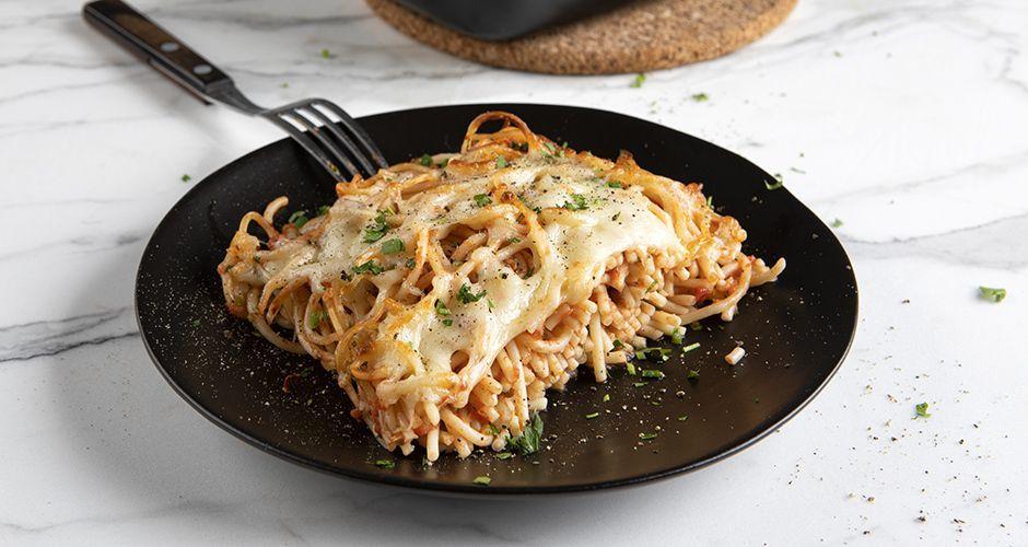 Leftover pasta bake