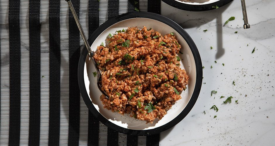 Recipe main beef and rice with vegetables site