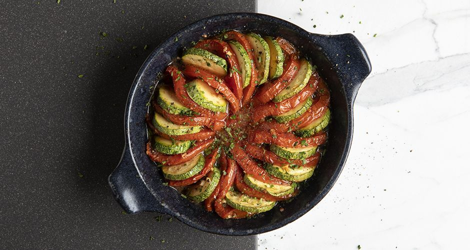 Tomato and zucchini ratatouille