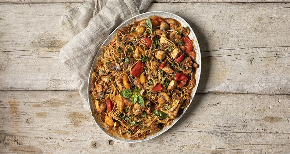 Healthy chicken cacciatore (high protein)