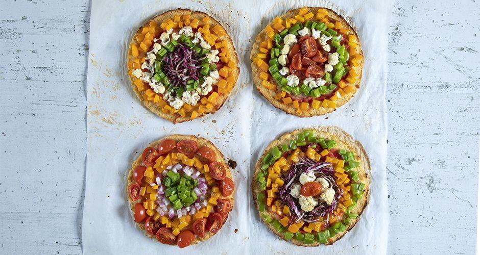 Πίτσα ουράνιο τόξο