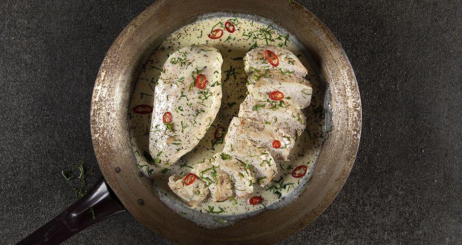 Κοτόπουλο αλά κρεμ με 4 υλικά
