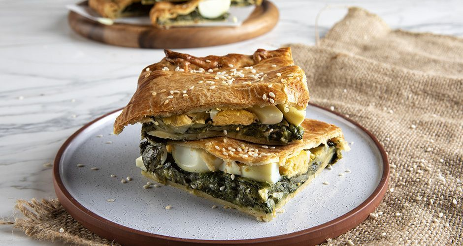 Egg and spinach pie
