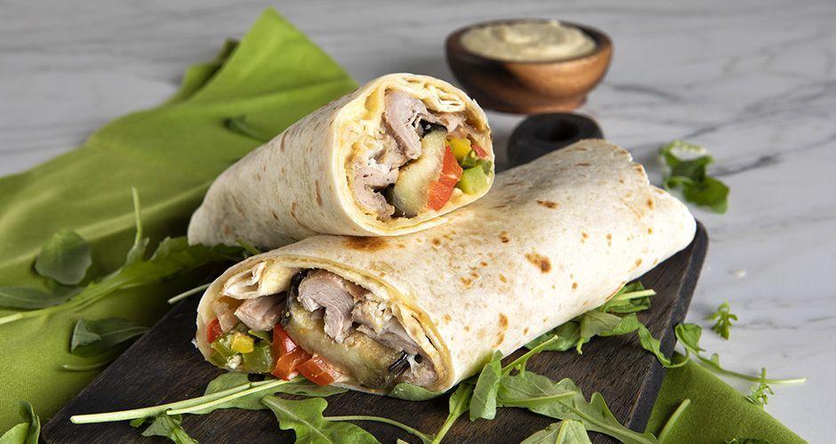 Lamb tortilla wraps