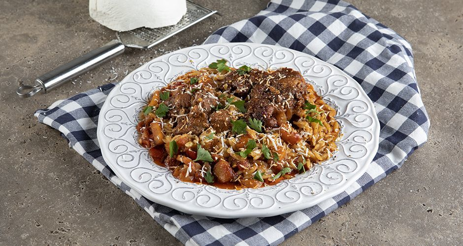 Greek lamb with orzo - Yiouvetsi