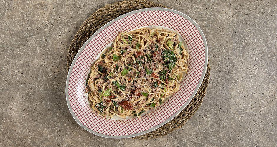 Ground sausage pasta