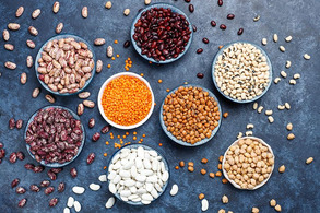 Calendar thumb legumes beans assortment different bowls light stone surface top view healthy vegan protein foodthumb