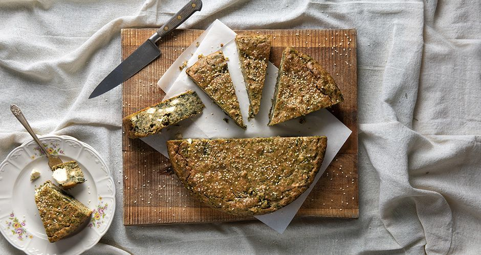 Whole-wheat spinach pie