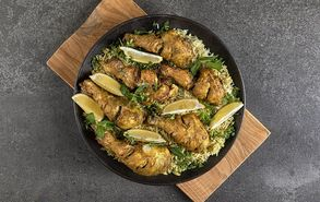 Recipe thumb kotopoulo tandoori me rizi mpasmati