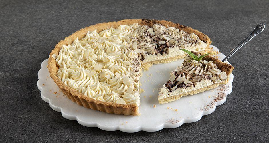 White chocolate and almond tart
