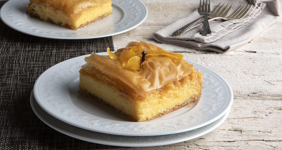 Greek custard pie with orange – Galaktoboureko