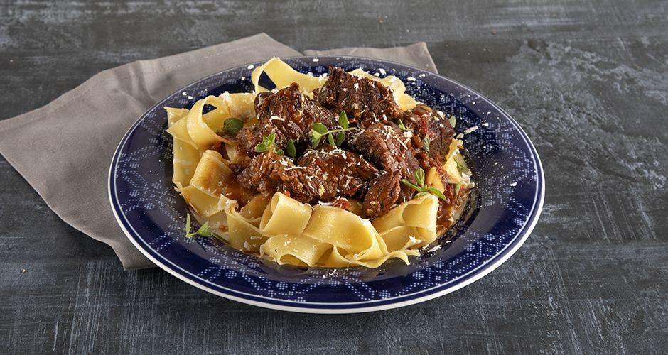 Greek-style beef stew with grape molasses