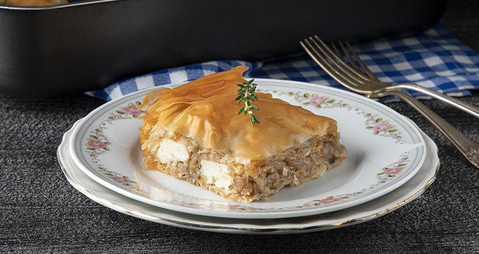 Greek-style onion pie