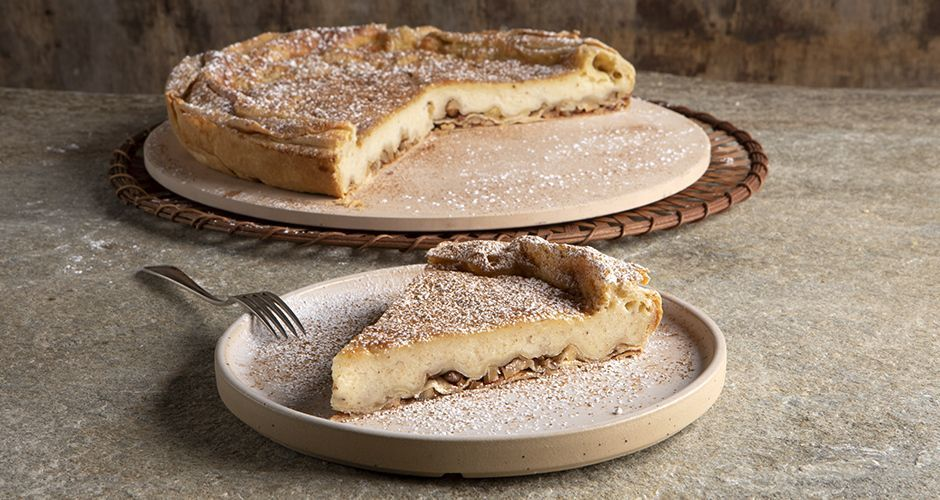 Greek milk pie from Mani